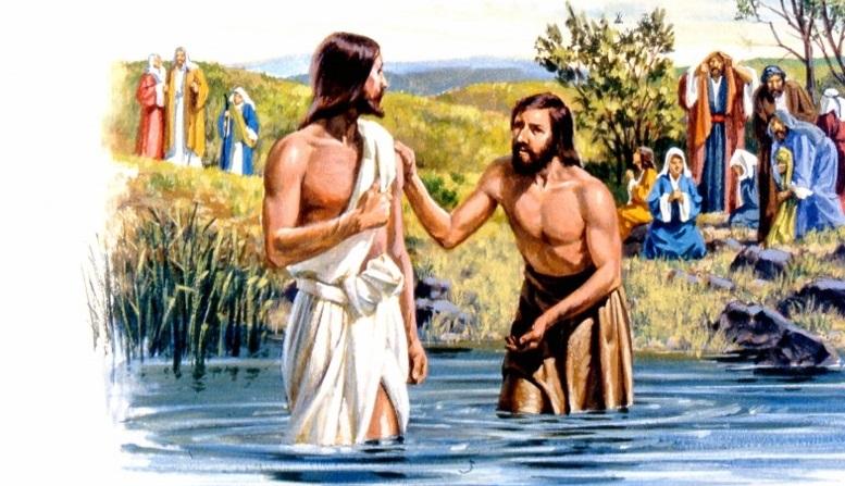 John the Baptist Baptizes Jesus