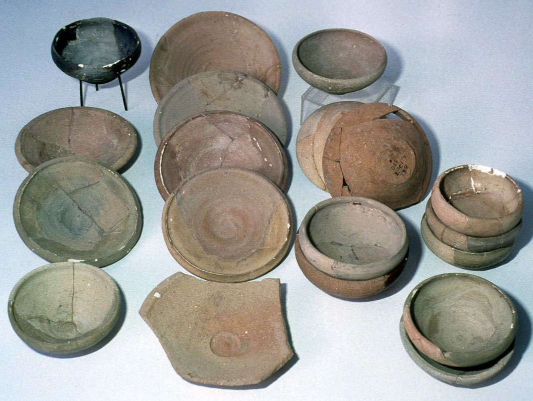 Plain saucers and bowls, locally made, found at Gamla, 1st Century BCE and 1st Century CE